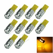 10X Car Bulb Yellow 10 LED 5630 SMD Top Spotlight T10 W5W Wedge Light Lamp A061