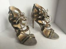ALEXANDRE BIRMAN STRAPPY & SUEDE CAGE SANDALS SZ 37.5 CURRENT