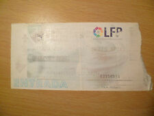 TICKET- MALAGA C F  v REAL BETIS BPIE- FONDO DE PIE, 12 September, 1999