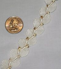 Gimp Off White Fabric Trim with Gold Metallic Accent - 5 yds for $5.00