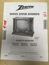 Zenith Service Manual Schematic for SD2503G SD2505P SD2507N S6520G SS6521G TV mp