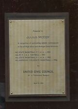 1956 United Civic Council Juluis McCoy Achievement Plaque