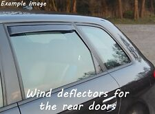 Wind deflectors for Nissan Qashqai 1 J10 2006-2013 SUV Offroad 5doors rear