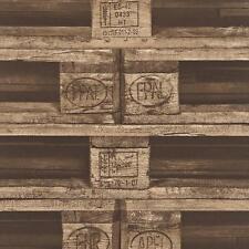 Papel Pintado Rasch Paleta de Cajón de fábrica EFECTO IMITACIÓN MURAL Rollo realista con textura