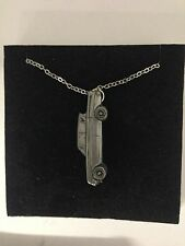 """Ford Consul Classic ref76 Car Emblem on Silver Platinum Plated Necklace 18"""""""