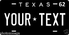 Texas 1962 Novelty Custom Personalized Tag Vehicle Car Auto License Plate