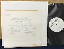 THE RAMONES MADONNA B-52's ERIC CLAPTON & MORE Japan White Label Promo Test LP
