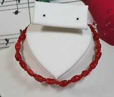 """Italian Coral Beaded Bracelet 6.5""""- 7"""" with 14K Gold Filled,100% Natural.CBR003"""