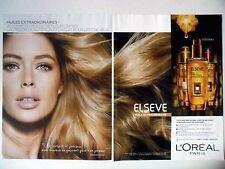 PUBLICITE-ADVERTISING :  L'OREAL Elseve Huile [2pages] 2015 Doutzen Kroes