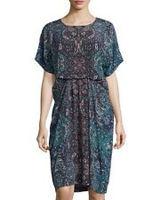 *NEW* SEE BY CHLOE SIZE UK12 BLUE PAISLEY DRESS COST £350