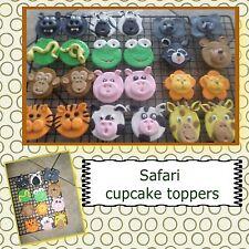 safari edible sugar cupcake toppers 12