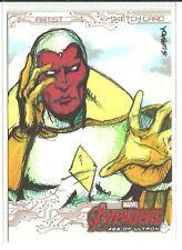 Upper Deck Avengers Age Of Ultron Vison Color Sketch by John Sloboda