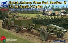 Bronco Models - 1/35 British (Airborne) 75mm w/ 1/4Ton Truck & Trailer # 35163