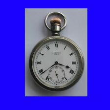 Very Rare Mint Silver Silver Benson Traveller / Explorer Pocket Watch 1902