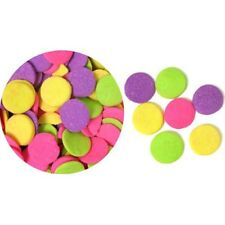 Edible Confetti Sprinkles Cookie Cake Cupcake JUMBO NEON QUINS 4 oz.