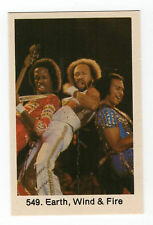 1970s Swedish Pop Star Card #549 US R&B Pop Soul Funk Band Earth Wind & Fire