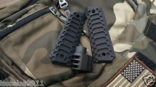 "1911 .45acp BLACK PUNISHER COMMANDER Muzzle Brake & ""Cobra"" Grips COMBO"