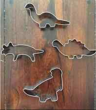 DINOSAURS COOKIE CUTTER SET OF 4 DINOSAUR MOLD FONDANT DECORATING TOOL BIRTHDAY
