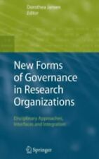 New Forms of Governance in Research Organizations : Disciplinary Approaches,...