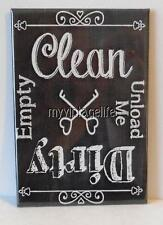 "Clean Dirty Empty Unload Dishwasher Chalkboard Country  2"" x 3"" Fridge Magnet"