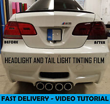 Smoked Headlight + Tail Light Tint Film Vinyl - 30 x 100cm - See Video Tutorial