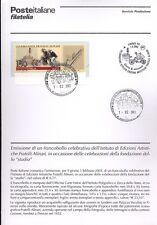 ITALIA 2003 FRATELLI ALINARI  BOLLETTINO COMPLETO DI FRANCOBOLLI ANNULLO FDC