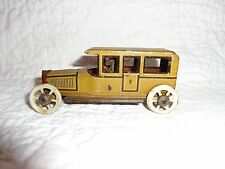 Antique George Fischer Tin Penny Car Toy with Driver!, Germany