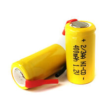 2 AA Ni-Cd Cd 1.2V 2/3AA 2/3 400mAh rechargeable battery Nickel Cadmium