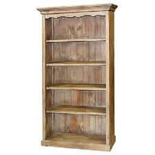 "72"" Rustic Medium Bookcase Sun dried Ash finish old world finish reclaimed wood"