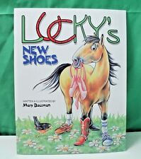 Lucky's New Shoes, horse coloring book by Mary Bausman, NEW