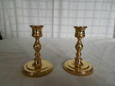 Baldwin solid brass candle holders USA made!