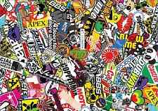3 x A4 Sticker Bomb Sheet - JDM EURO DRIFT VW - Design 434 - (210MM x 297MM)