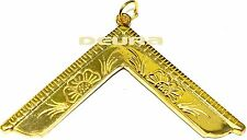 Freemason Masonic Worshipful Master Collar Jewel in GOLD NEW