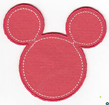 """DISNEY- """"MINNIE"""" MOUSE HEAD PINK - CARTOON - CHILDREN-Iron On Embroidered Patch"""