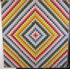 OUTSTANDING 1890s PA Rainbow Trip Around World Antique QUILT Published Pattern