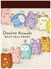 Crux Domino Animal Cookies Mini Kawaii Memo Pad