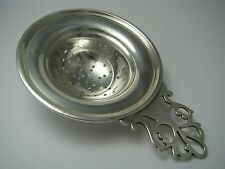 CHIPPENDALE STYLE STERLING SILVER TEA STRAINER SIFTER SPOON by J.H.ca1900s Excel