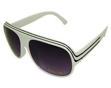 NEW UV400 MILLIONAIRE AVIATOR SUNGLASSES WHITE BLACK