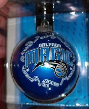 "ORLANDO MAGIC Christmas Tree Ornament 3"" Glass Ball NBA BASKETBALL TEAM BLUE HTF"