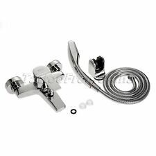 Wall Mounted Bathroom Faucet Bath Tub Mixer Tap With Hand Shower Head Shower Set