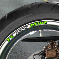 8 x ZX10R Wheel Rim Stickers Decals  Many Colours - ninja zx-10r zx 10r 1000 - b