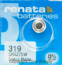 1 pc Renata Watch Batteries 319 SR527SW SR527 527 0% MERCURY