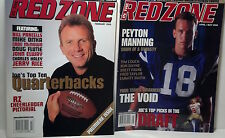 "2 Issues of  ""IN THE RED ZONE"". Peyton Manning & Joe Montana (Premiere Issue)"