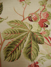 71 x 110 SANDERSON Horse Chestnut vintage shabby chic upholstery fabric remnant