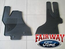 11 thru 15 Econoline OEM Genuine Ford Rubber All Weather Floor Mat Set 2-pc NEW