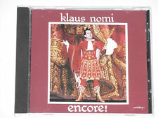 KLAUS NOMI -Encore- CD