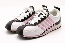 KSwiss K Kay Swiss Retro Waffle Sneakers Shoes Womens 9 Leather pink white EUC