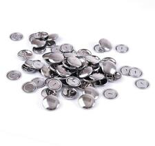 Hemline Non Sew Self Cover Metal Top Buttons Fabric Garments Accessories 29 mm