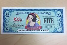 Mint 2002 $5 SNOW WHITE DISNEY DOLLAR 100th Anniversary A00401871A Uncirculated