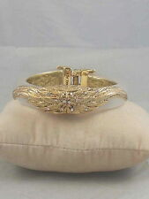 Betsey Johnson Goldtone Resin HEAVEN SENT Angel Wing Hinged Cuff Bracelet $65